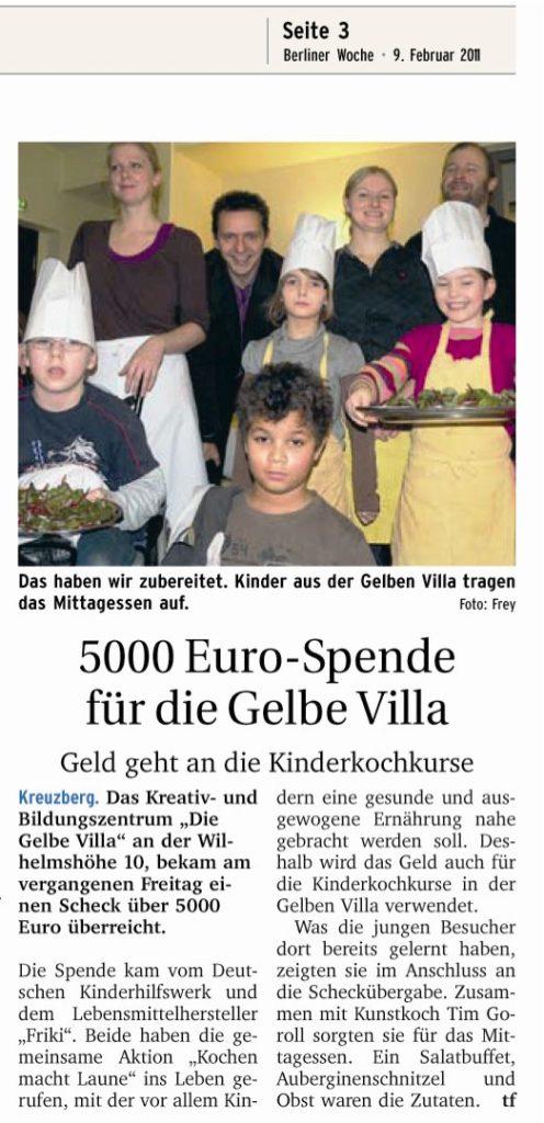 Deutsches Kinderhilfwerk spendet 5000 Euro