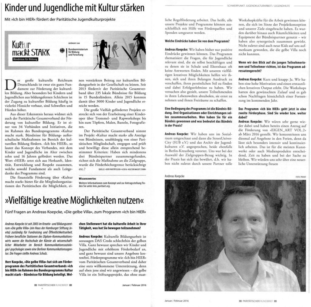 Interview mit Andreas Koepke aus der gelben Villa